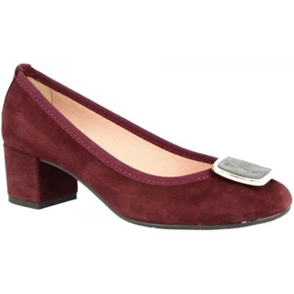 Leonardo Shoes Lodičky Leonardo Shoes  3059 CAMOSCIO BORDO