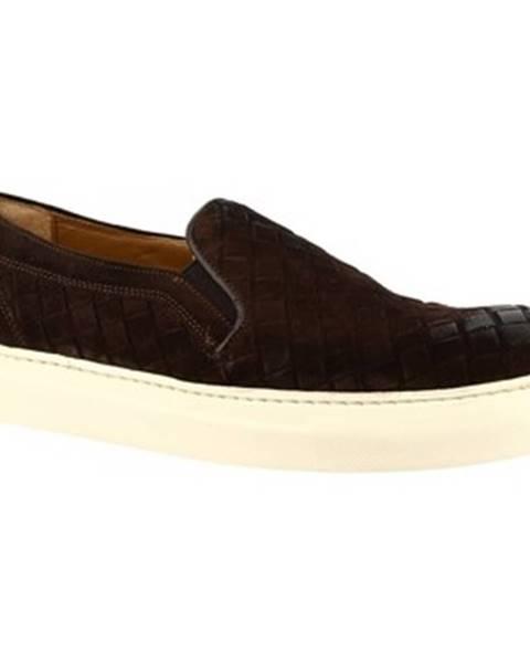 Hnedé espadrilky Leonardo Shoes