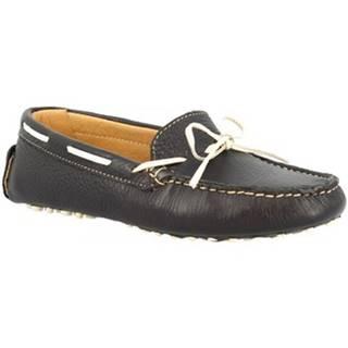 Mokasíny Leonardo Shoes  025 DOLLARO BLU