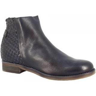 Polokozačky Leonardo Shoes  QO50 KONS BLU