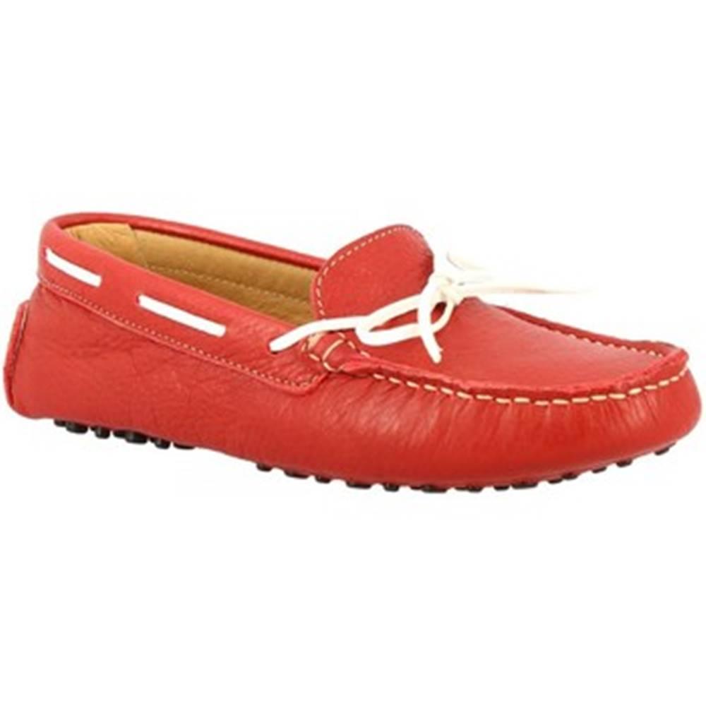 Leonardo Shoes Mokasíny Leonardo Shoes  025 DOLLARO ROSSO