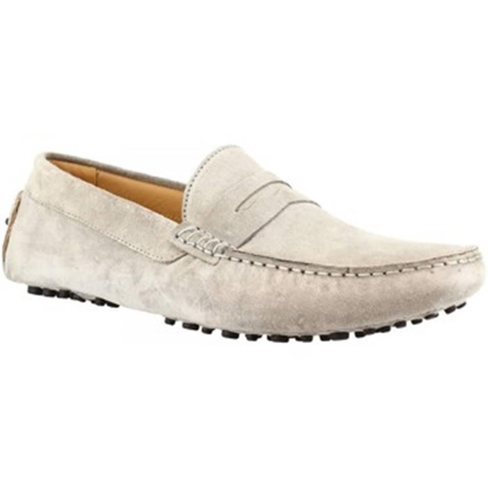 Leonardo Shoes Mokasíny Leonardo Shoes  503 CAMOSCIO GRIGIO