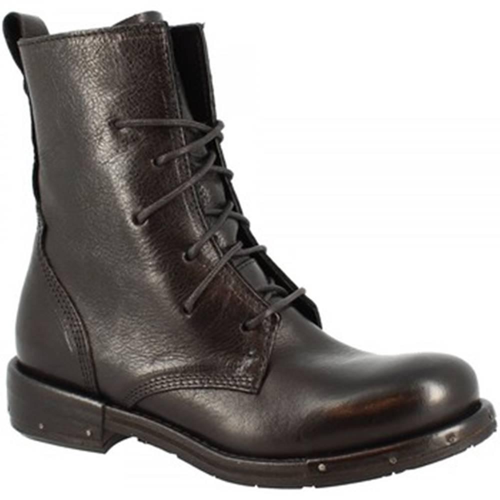 Leonardo Shoes Polokozačky Leonardo Shoes  RE14F VACCHETTA NERA