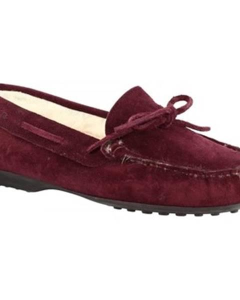 Červené papuče Leonardo Shoes
