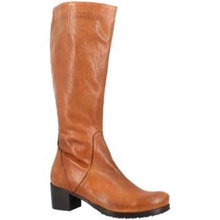 Čižmy do mesta Leonardo Shoes  2610 ROK CIOCCOLATO