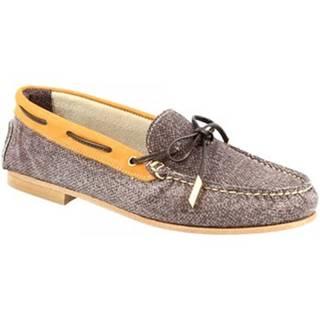 Mokasíny Leonardo Shoes  503 NABUK T. MORO CUOIO