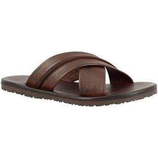 Šľapky Leonardo Shoes  M6160 VITELLO MARRONE