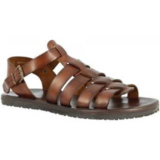 Sandále Leonardo Shoes  M5636 MARRONE