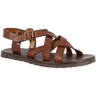 Sandále Leonardo Shoes  M6105 MARRONE