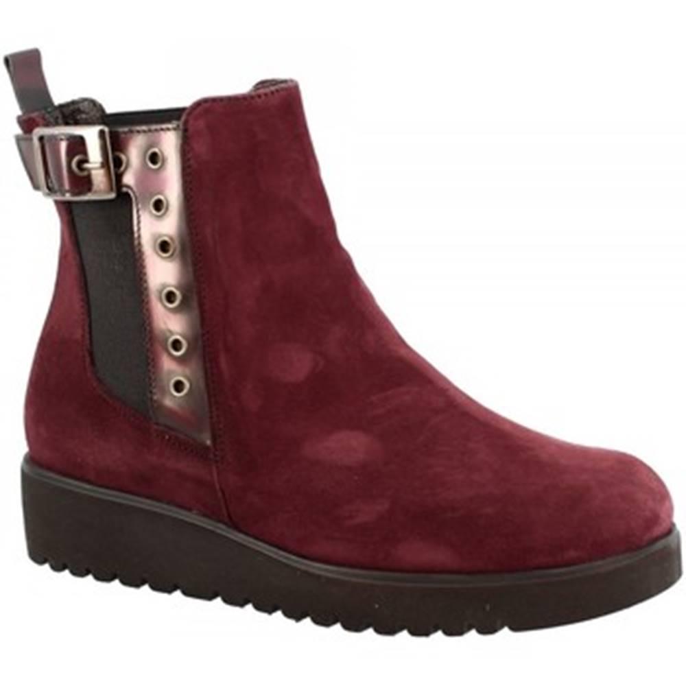 Leonardo Shoes Polokozačky Leonardo Shoes  166 CAMOSCIO BORDEAUX