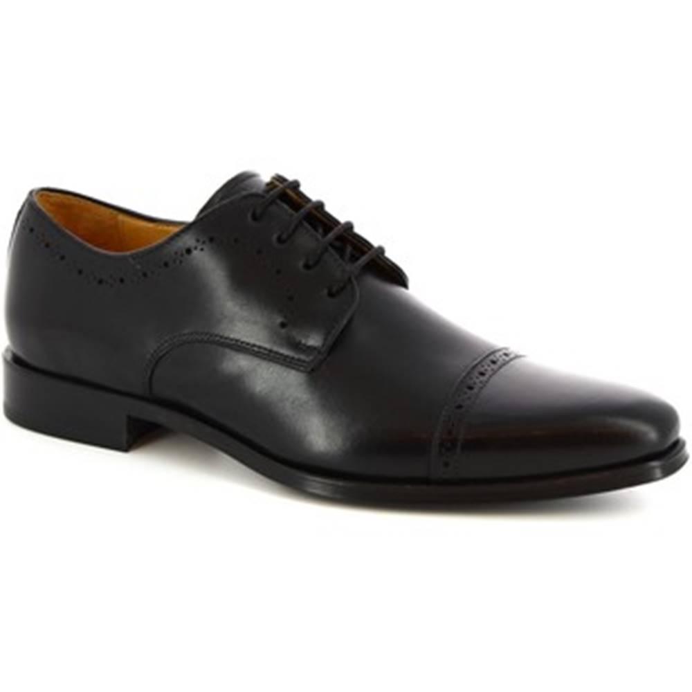 Leonardo Shoes Derbie Leonardo Shoes  6151I18 TOM. OXFORD NERO