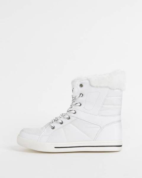Biela zimná obuv SAM 73