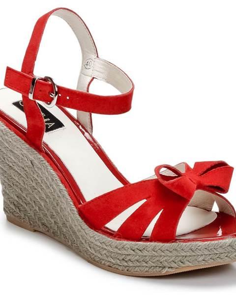 Červené sandále C.Petula