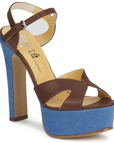 Hnedé sandále Keyté