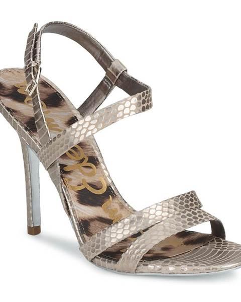 Strieborné sandále Sam Edelman