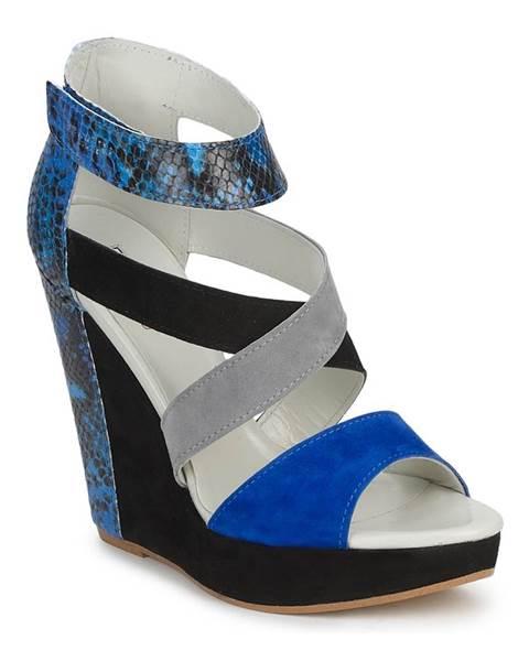 Čierne sandále Serafini