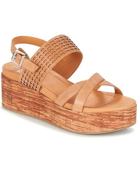 Hnedé sandále Un Matin d'Ete