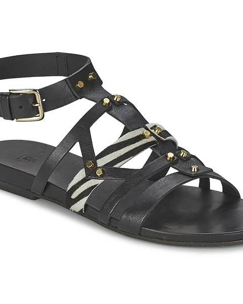Čierne sandále Vic
