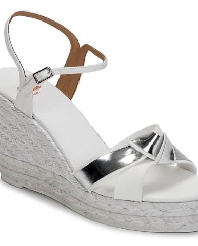 Biele sandále Castaner