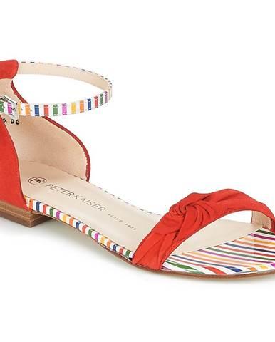 Červené sandále Peter Kaiser