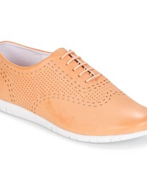 Oranžové topánky Kickers