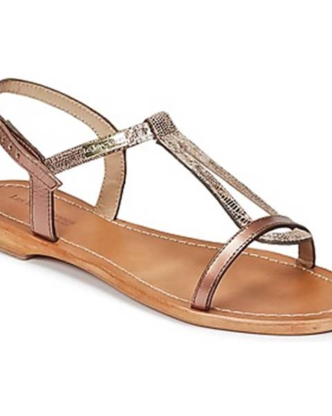 Zlaté sandále Les Tropéziennes par M Belarbi