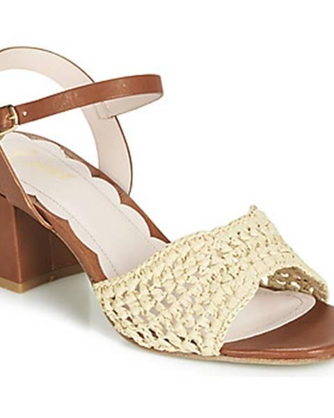 Hnedé sandále Miss L'Fire