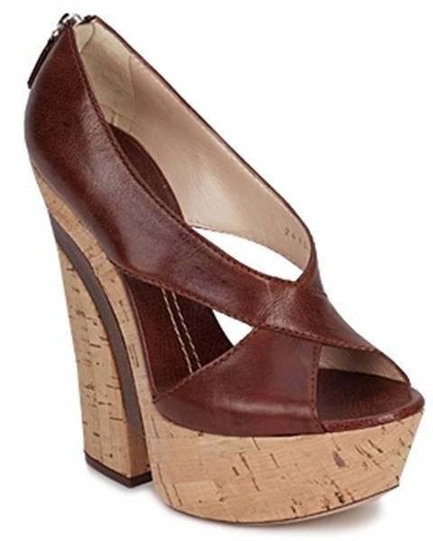 Hnedé sandále Casadei