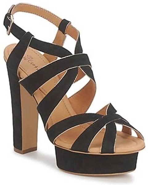 Čierne sandále Eva Turner