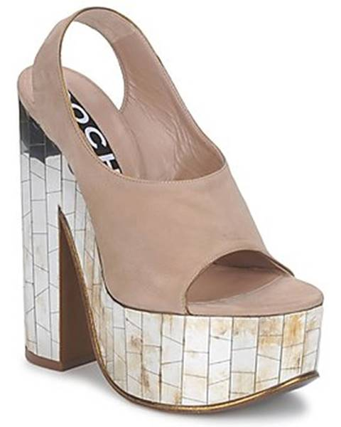 Béžové sandále Rochas