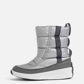 Dámske zimné nepromokavé topánky v striebornej farbe SOREL OUT N ABOUT