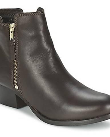 Hnedé polokozačky Shoe Biz