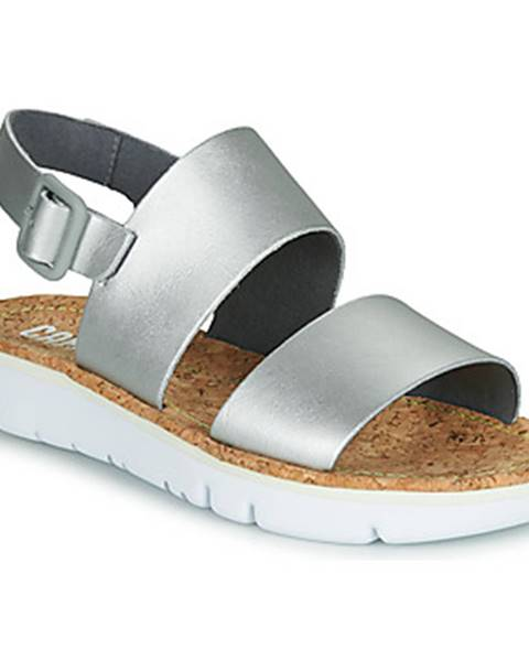 Strieborné sandále Camper