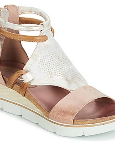 Zlaté sandále Mjus
