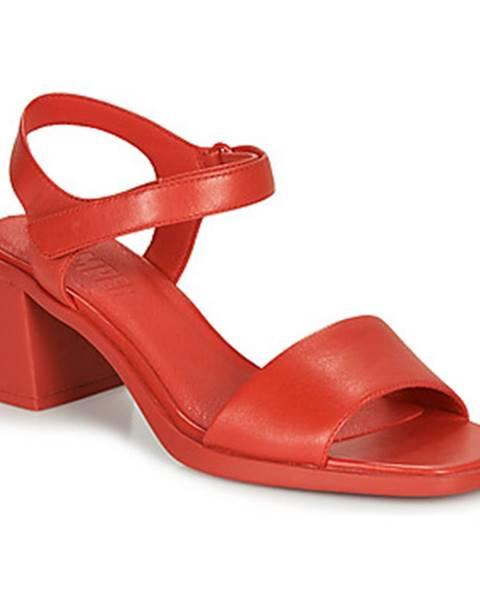 Červené sandále Camper