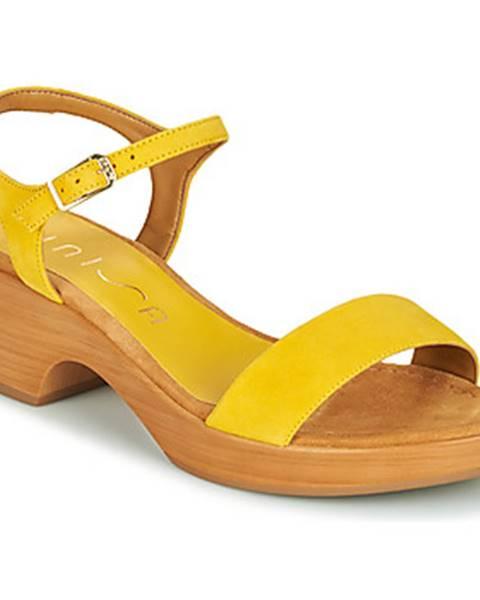 Žlté sandále Unisa