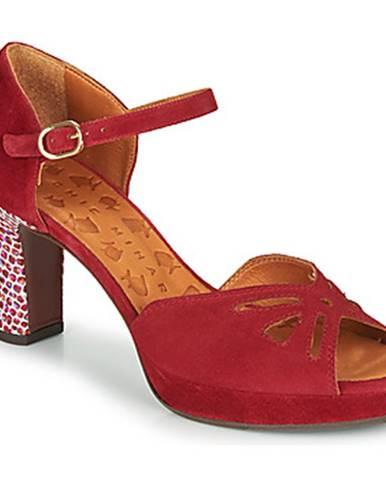 Červené sandále Chie Mihara