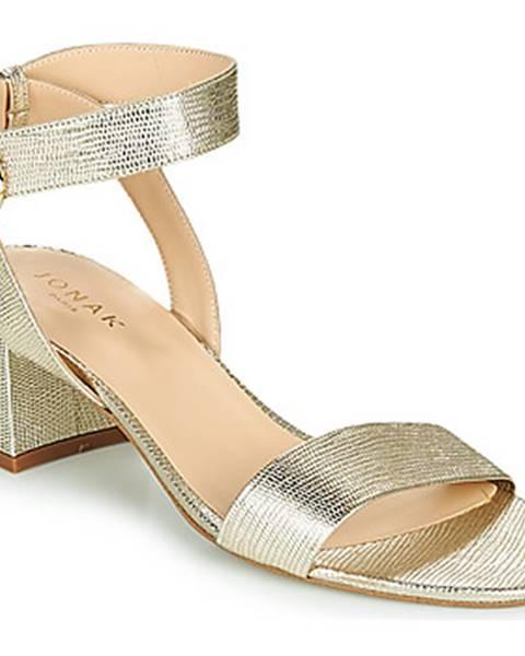 Strieborné sandále Jonak
