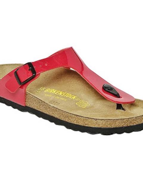 Červené topánky Birkenstock
