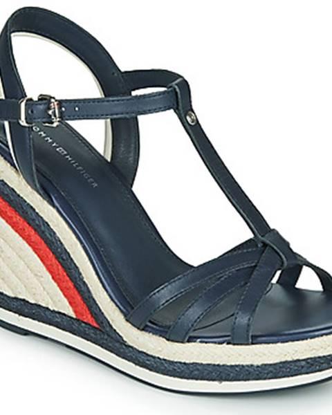 Modré sandále Tommy Hilfiger