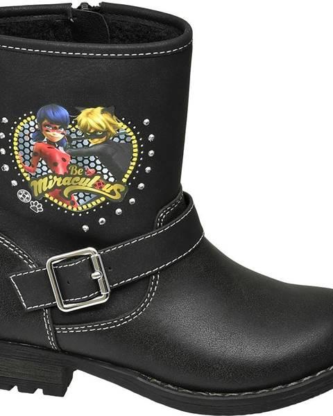 Čierna zimná obuv Miraculous
