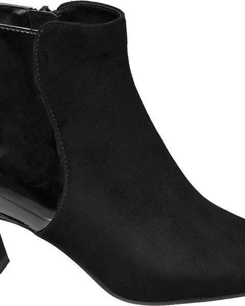 Graceland Graceland - Čierne členkové čižmy Graceland