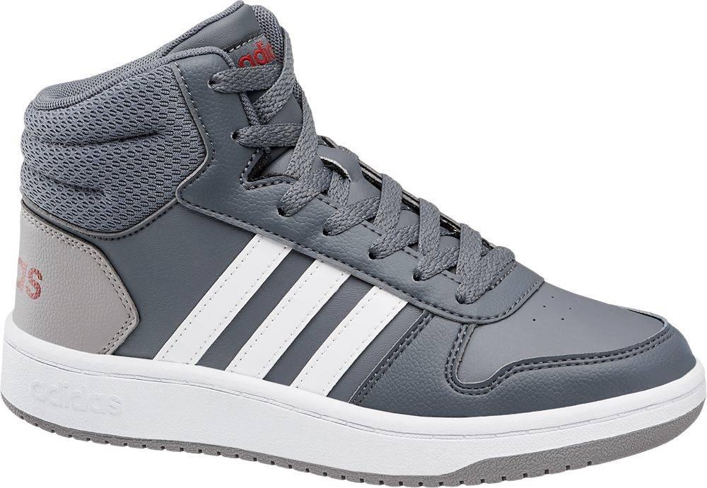 adidas adidas - Sivé členkové tenisky Adidas Hoops Mid 2.0 K