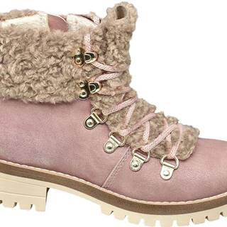 Graceland - Ružová členková obuv na zips Graceland