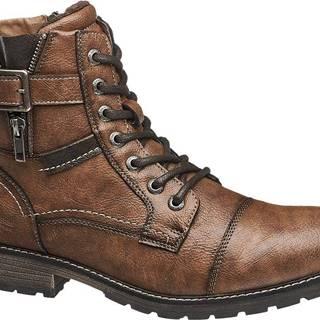Tom Tailor - Hnedá členková obuv so zipsom Tom Tailor