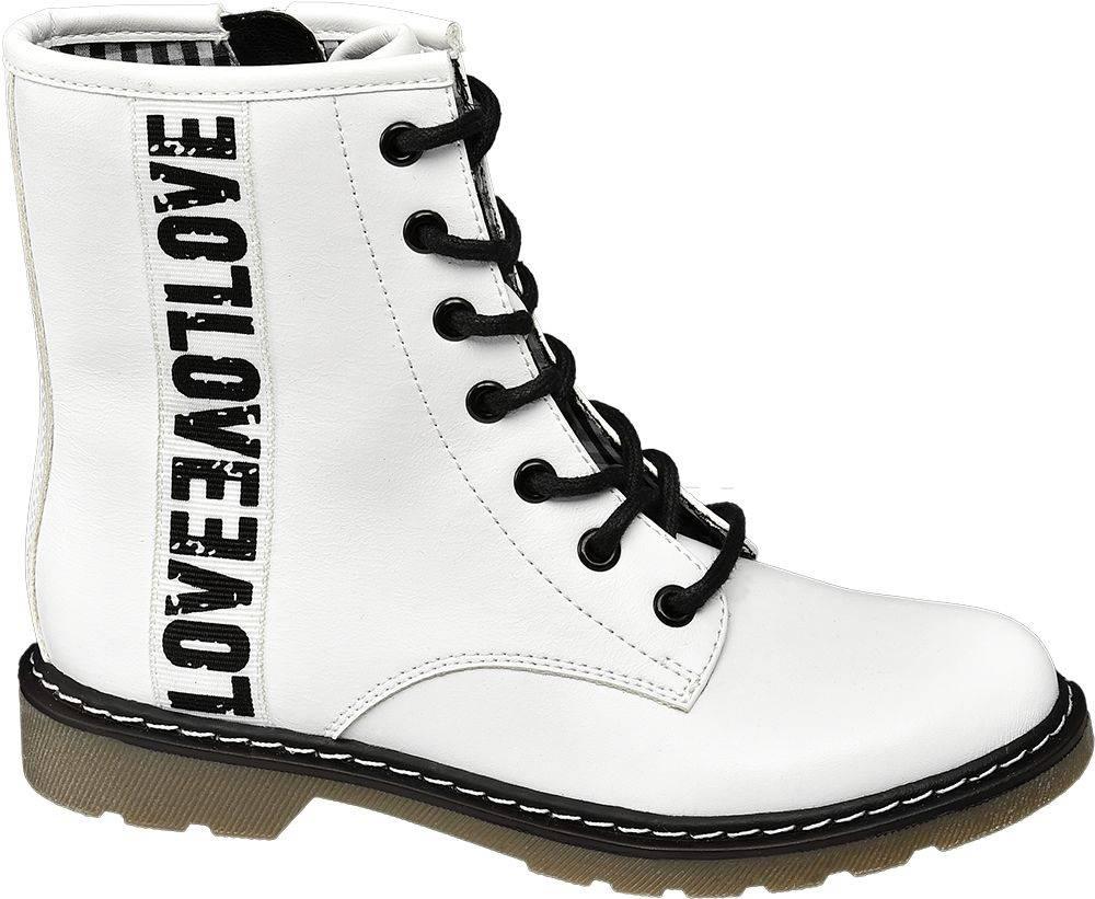 Graceland Graceland - Biela členková obuv na zips Graceland