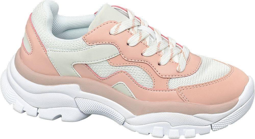 Ružovo-biele chunky tenisky...