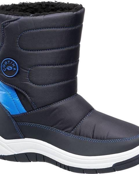 Tmavomodrá zimná obuv Cortina