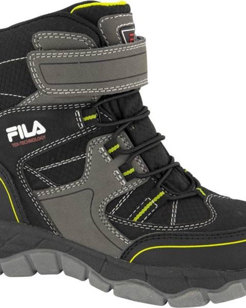 Čierna zimná obuv Fila