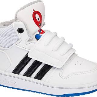 adidas - Biele členkové tenisky Adidas Hoops Mid 2.0 Inf